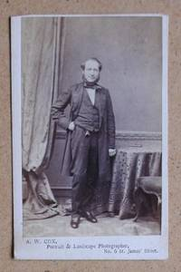 Carte De Visite Photograph. Portrait of a Gentleman.