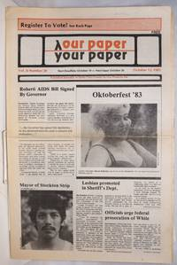 image of Our Paper, Your Paper; the gay family paper of the Santa Clara Valley; vol. 2, #20, October 12, 1983