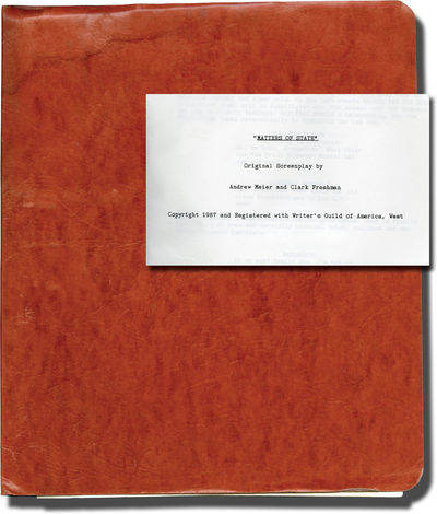 Oxford: University College, 1987. Draft script for an unproduced film. The wife of a retiring Minist...