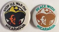 image of Stop US war on Nicaragua [together with] Peace with Nicaragua [two pinback buttons]
