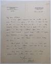 """Autographed Letter Signed on """"Royal Institution"""" letterhead"""
