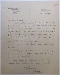 "Autographed Letter Signed on ""Royal Institution"" letterhead"