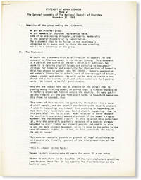 image of Statement of Women's Caucus Made at the General Assembly of the National Council of Churches, November 31, 1969