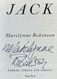 JACK (SIGNED to the FULL TITLE PAGE) by Marilynne Robinson - Signed First Edition - Sept 29, 2020 - from Charm City Books (SKU: BS13707X)
