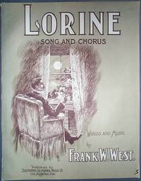 image of 1904 Piece of Vintage Sheet Music Lorine Song and Chorus