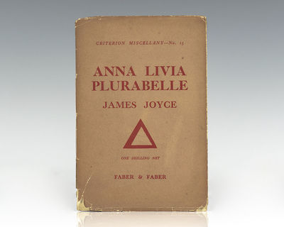 London: Faber & Faber, 1930. First edition, third impression of the centerpiece and segment of Finne...