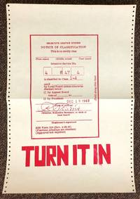 Turn it in [screenprint poster depicting draft card]