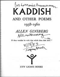 image of Kaddish and Other Poems. 1958-1960. (Signed Association copy)