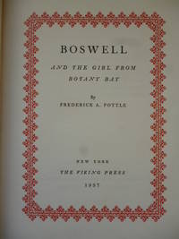 Boswell and the Girl from Botany Bay by POTTLE, Frederick A - 1937