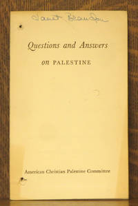 QUESTIONS AND ANSWERS ON PALESTINE