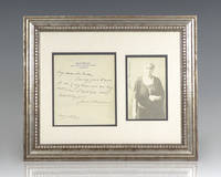Jane Addams Signed Photograph and Autograph Letter.
