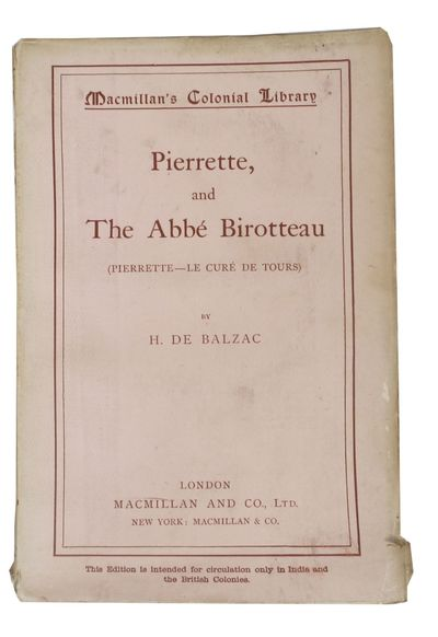 London / New York: MacMillan and Co. Ltd, 1896. 1st edition thus. Original publisher's pale pink pap...