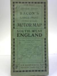 Large-Print Motor Map. South-West England by Bacon's - Paperback - from World of Rare Books (SKU: 1558423412FLO)