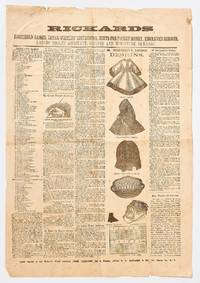 image of (Broadside): Rickards. Household Games, Letter Writers' Instructor, Hints for Pocket Money, Engraved Designs, Ladies Tiolet Assistant, Recipes and Miniature Almanac