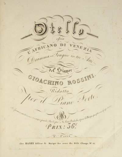 Paris: Chez Boieldieu jeune , 1820. Folio. Half dark red morocco with marbled boards, decorative ban...