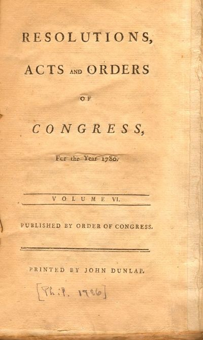 : Printed by John Dunlap, 1786. Hardcover. Good. 8vo. , 257pp., xliii index, . Contemporary boards c...