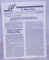 image of A New Day: a Christian voice from the Universal Fellowship of Metropolitan Community Churches on the Hill; vol. 3, #7, July 1979
