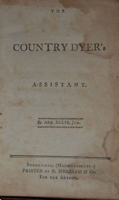 Brookfield: E. Merriam, 1798. First Edition. 12mo, pp. viii, (9-)139 pp. + 3 pp. index + errata page...