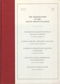 The Transactions of The Asiatic Society of Japan. Third Series, Vol 16. by ASIATIC SOCIETY OF JAPAN - Hardcover - June1981. - from Asia Bookroom and Biblio.com