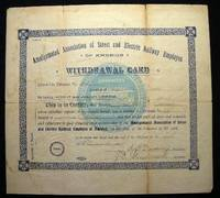 image of 1904 Amalgamated Association of Street and Electric Railway Employes of America Withdrawal Card Lawrence Massachusetts