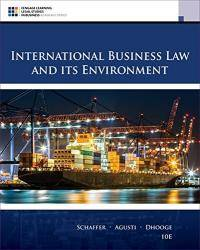 image of International Business Law and Its Environment (MindTap Course List)