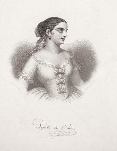 Pepita de Oliva. Engraving on paper. Leipzig: Louis Rocca, (ca. 1851). 7 x 8 1/4