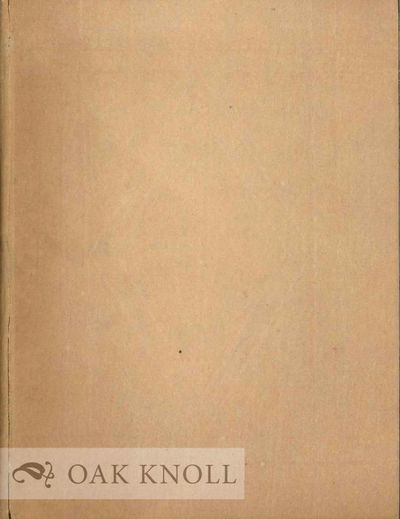 New York: The Pynson Printers, 1924. boards. Pynson Printers. 12mo. boards. xvi, 38 pages. Limited t...