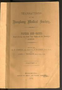 image of Transactions of the Hongkong Medical Society, Volume I (all printed)
