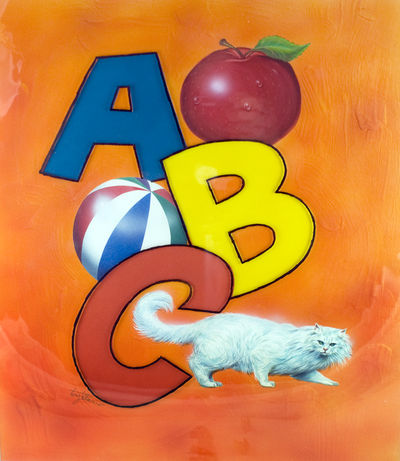 Tallarico, Tony. Original artwork, signed by the artist, Tony Tallarico. Depicting the letters A, B,...