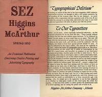 """A PRINTER'S HARD-WORKED HOLIDAY IN EUROPE.  In """"Sez Higgins-McArthur,"""" an Occasional Publication Concerning Creative Printing and Advertising Typography, Spring 1950"""