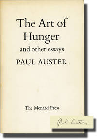 The Art of Hunger and Other Essays (Signed First UK Edition)