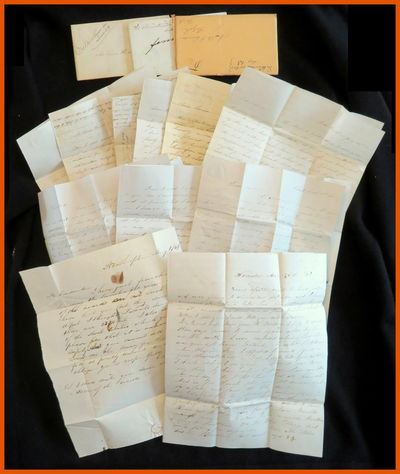 Ireland Depot, Holyoke, MA, 1847-1857. General wear. . A collection of eleven (11) letters belonging...