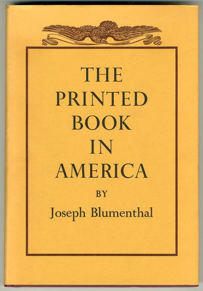 Boston: Godine & Dartmouth, 1977. Quarto. Cloth. Facsimiles. First edition. Copley bookplate on fron...