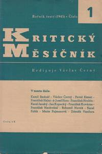 Kritický měsíčník, vol. VI, nos. 1-10 (complete yearly run, in six fascicles)
