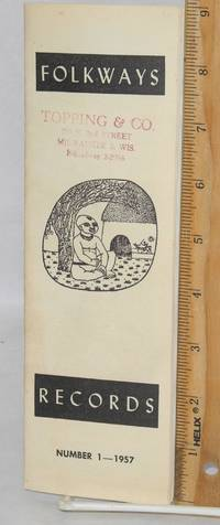 image of Folkways Records Number 1 - 1957 [catalog]