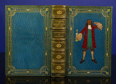 London: G. Bell and Sons, 1927. Everybody's Pepys A Fine Inlaid Binding by Rivière & Son Illustrate...