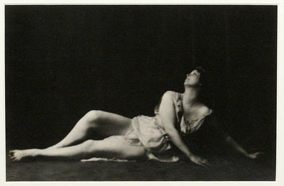 New York: Arnold Genthe, 1916. framed. Very Good. EXQUISITE ICONIC PHOTOGRAPH OF ISADORA DUNCAN BY A...