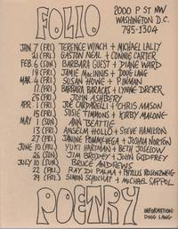 FOLIO POETRY [Flyer Schedule for Seven Months of Readings at Folio Books]