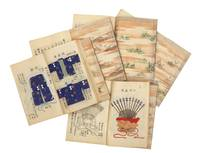 "Illustrated manuscript on fine mica paper, entitled ""Shozoku shuyo sho"" [""Costumes..."