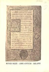 Catalogue 36/1972 : Manoscritti libri Atichi et Moderni Bibliografia -  Economia - Paleographia Storia.