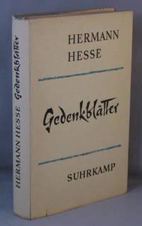 Gedenkblatter. by  Hermann Hesse - Hardcover - 1962 - from Bucks County Bookshop  IOBA and Biblio.com