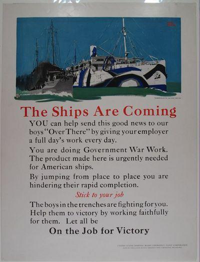 Philadelphia: Emergency Fleet Corporation. poster. Fine Condition. World War I United States Shippin...