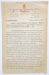 image of Details of the new commonwealth of the Netherlands, Indonesia, Curacao and Surinam envisaged by H.M. Queen Wilhelmina in her radio address to the Netherlands of Sunday december 6, 1942 [press release from December 15, 1942]