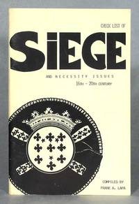 Check List of Siege And Necessity Issues 16th-20th Century
