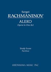 Aleko by Sergei Rachmaninoff - Paperback - Reprint (Moscow: Muzgiz, (1953). Plate M. 23208 Г.) - 2008 - from Serenissima Music, Inc. (SKU: SER-076)