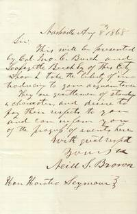 ALS from Neill S. Brown to Horatio Seymour