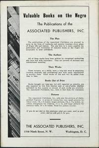VALUABLE BOOKS OF THE NEGRO: The Publications of the Associated Publishers, Inc. [cover title]