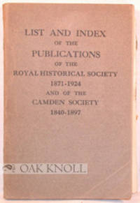 London: Offices of the Soiety, 1925. stiff paper wrappers. 8vo. stiff paper wrappers. (xviii), 110 p...