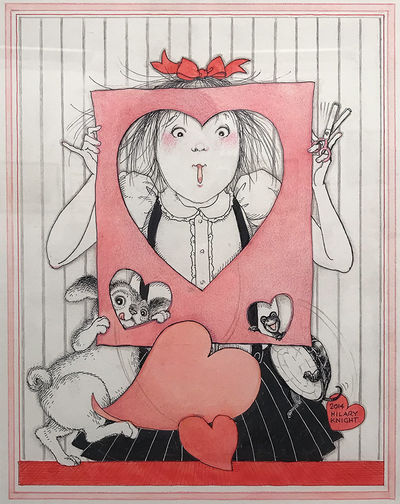 KNIGHT (Hilary): Sweet Heart. 2014. Original ink and watercolor, an alternative design for The 365 D...