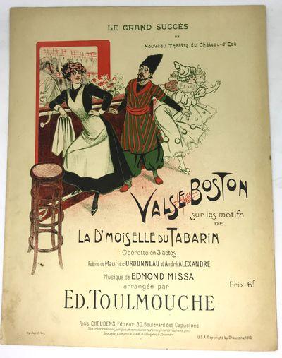 Paris: Choudens, 1910. Sheet_music. Orig. color illustrated wraps. Very good. 5 pages. 35 x 27 cm. C...
